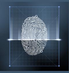 Fingerprint biometric scan for personal vector