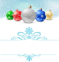 Christmas balls snow pattern380 vector