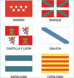 Spanish countries flags vector