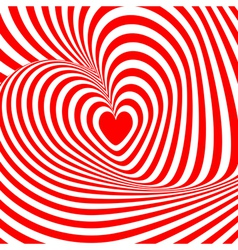 Design heart swirl rotation background vector