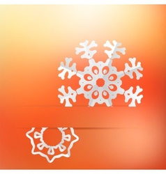 Christmas background and snowflakes  eps8 vector