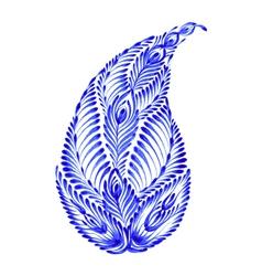 floral decorative ornament paisley vector image