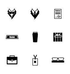 Office people icon set vector