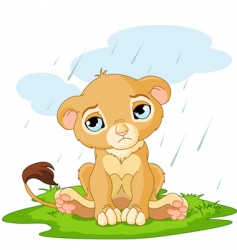 cartoon lion cub vector image