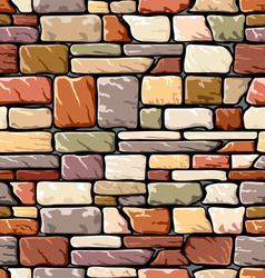 color stone wall vector image