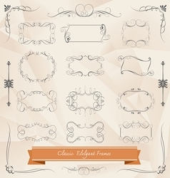 Set of classic elegant frames vector