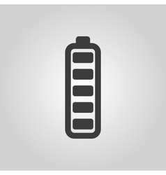 The battery icon accumulator symbol flat vector