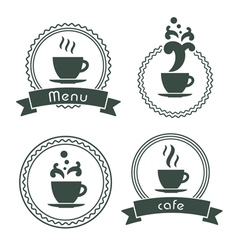 Menu label set vector