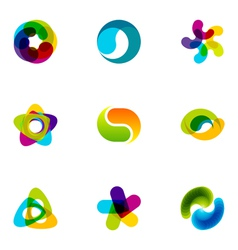 Logo design elements set 16 vector