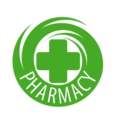 Round abstract logo for pharmaceutical companies vector