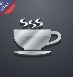 The tea and cup icon symbol 3d style trendy modern vector