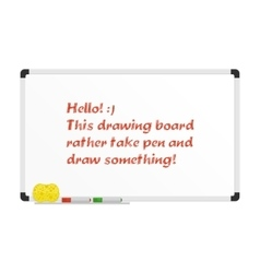 Realistic drawing board vector