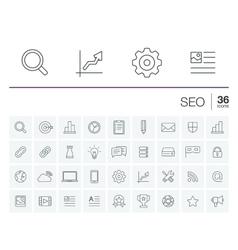 Seo and market analytics icons vector