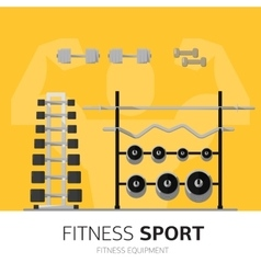 Gym equipment concept vector