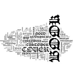 A good book cover design is key text word cloud vector