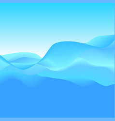 abstract background of blue waves vector image