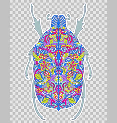 Abstract colorful beetle vector