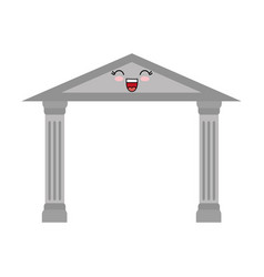 Ancient roman temple with columns ico vector
