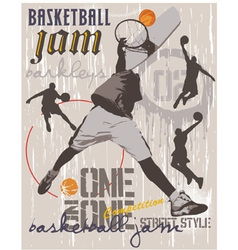basket ball ONE on ONE vector image vector image