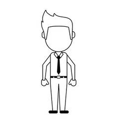 Businessman faceless avatar icon image vector
