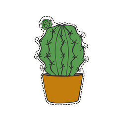 cactus sticker vector image vector image