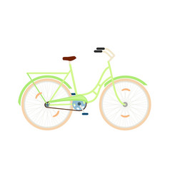 classic city bicycle isolated icon vector image vector image