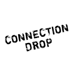 Connection drop rubber stamp vector