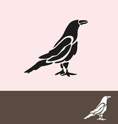 Crow symbol vector