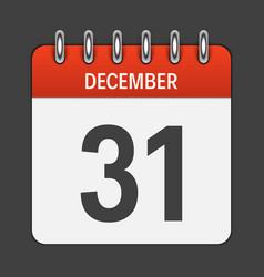 december 31 calendar daily icon vector image