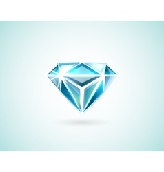 Diamond on white vector image vector image