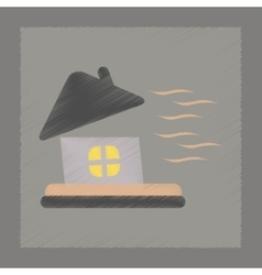 Flat shading style icon storm the house vector