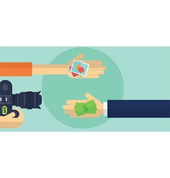 Freelance and employer flat design vector