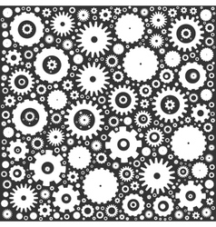 Gear cog wheels background vector image