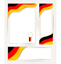 Germany flag banners set vector