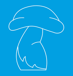 Good mushroom icon outline style vector
