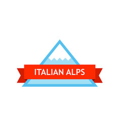 Logo of italian alps vector