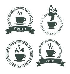 menu label set vector image vector image