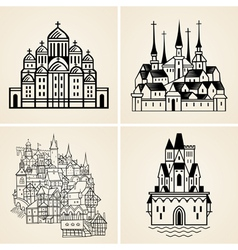 Old cities vector image vector image