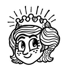 princess cartoon vector image