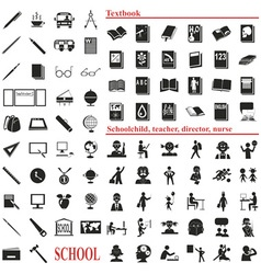 school icons on white vector image