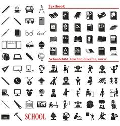 School icons on white vector