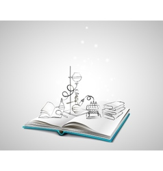 Science icons doodles Chemical Laboratory vector image