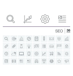SEO and market analytics icons vector image vector image