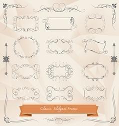 Set of classic elegant frames vector