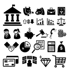 Stock financial icons set vector image vector image