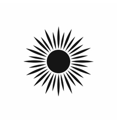 Sun icon simple style vector image