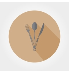 Tourist fork spoon and knife vector image