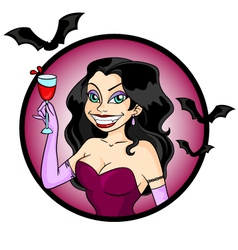 Vampire woman vector