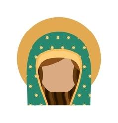 Virgin mary cute icon vector
