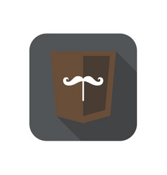 Web development shield sign isolated mustache icon vector